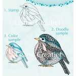 Doodle clear stamp Bird.