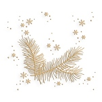 Embossing folder Christmas branch