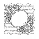 Creative Expressions Scripted Clematis Stamp