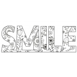 Creative Expressions Floral Smile Stamp