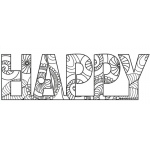 Creative Expressions Zentangled Happy Stamp