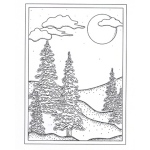 Creative Expressions  Stamps  - Winter Tree Back Ground Stamp