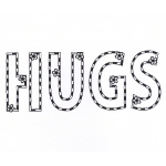 Creative Expressions  Stamps  - Hugs & Flowers