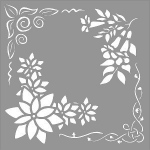 Creative Expressions  Mask - Floral Elements