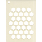Creative Expressions  Mini Stencil -Honeycomb