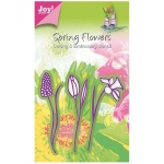 Ecstasy Crafts Joy! Crafts Cutting And Embossing Die  - 3 Flowers, Daffodil / Tulip / Hyacinth