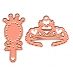 Cutting and Embossing die - tiara and mirror