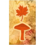 Cutting and Embossing die - mushroom and leaf