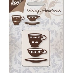 Joy! Crafts Dies - Vintage - Tea & Coffee Cup /Saucer