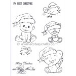 Joy Crafts Stamp - Teddy Bear Christmas