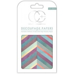Creative Expressions Chevron Brights Decoupage Papers