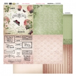 Couture Creations 12X12 Patterned Paper  (8 Designs) - Buterflies & Words - Vintage Rose Collection (5)
