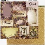 Couture Creations - 12 x 12 Paper (5 sheets) - Life Story Cards