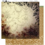 Couture Creations - 12 x 12 Paper (5 sheets) - Golden Frame