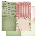 Couture Creations 12X12 Patterned Paper  (8 Designs) - Florals & Time - Vintage Rose Collection (5)