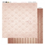 Couture Creations 12X12 Patterned Paper  - Bunch In A Line - Vintage Rose Collection (5)