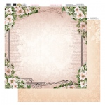 Couture Creations 12X12 Patterned Paper  - Frame Of Roses - Vintage Rose Collection (5)