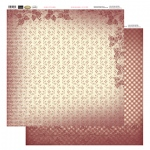 Couture Creations 12X12 Patterned Paper  - Petite Flowers - Vintage Rose Collection (5)