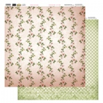 Couture Creations 12X12 Patterned Paper  - Line Of Flowers - Vintage Rose Collection (5)