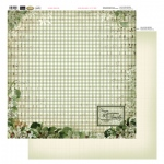 Couture Creations 12X12 Patterned Paper  - Green Plaid - Vintage Rose Collection (5)