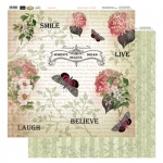 Couture Creations 12X12 Patterned Paper  - Smile - Vintage Rose Collection (5)