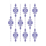 Couture Creations  Embossing Folder - Lilliputana Curtain