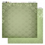 Couture Creations 12X12 Patterned Paper  - Green Damask - Vintage Rose Collection (5)