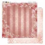 Couture Creations 12X12 Patterned Paper  - Rouge Stripes - Vintage Rose Collection (5)