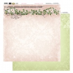 Couture Creations 12X12 Patterned Paper  - Rose Header - Vintage Rose Collection (5)