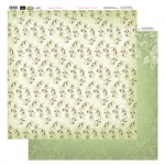 Couture Creations 12 X12 Patterned Paper  - Blooms In Green - Vintage Rose Collection (5)