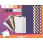 Hearty Crafts 10 Luxury Cards Set Foil Printed Die Cut And Embossed Relief - Chain Link Border