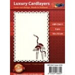 Luxury Card Layer - Laser - Cut Design-Cranes
