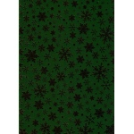 Ecstasy Crafts Premium Foil Cardstock - Snowflake Gold On Holly Green