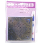 Ecstasy Crafts Parchment Craft Perforating Kit Elegant Corners And Checkered Pattern