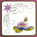KC Embroidery Pattern - Corner Flowers & Swirls