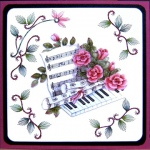 KC Embroidery Pattern - 4 Corner Vine