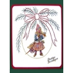 KC Embroidery Pattern - Christmas Bow
