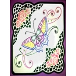 KC Embroidery Pattern - Butterfly Swirl