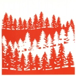 Design Embossing Folder: Forest