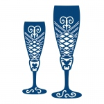 Tattered Lace Die - Champagne Glasses