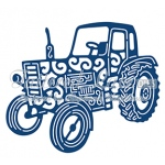 Tattered Lace Die - Vintage Tractor
