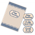Tattered Lace  Interchangeable Embossing Folder - Spots