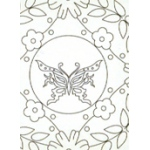 Ecstasy Crafts 3 Parchment Patterns -Flowers & Butterflies