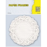 "Nellie's Choice Paper Lace Doily Frames - Round 11.5 Cm/ 5"" In Diameter"