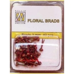 Nellie's Choice Glitter Brads - Red