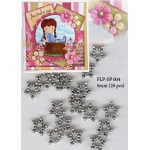 Spacers - Metal Floral 8 mm (20 pcs)