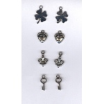 Nellie's Choice Card Charms - Good Luck