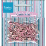 Marianne Design Decoration - Mini Pins - Light Pink & Pink