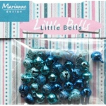 Decoration - Mini bells - light blue & dark blue