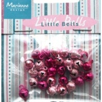 Decoration - Mini bells - light pink & dark pink